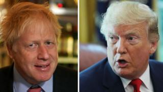 Boris Johnson and Donald Trump speak ahead of G7 meeting