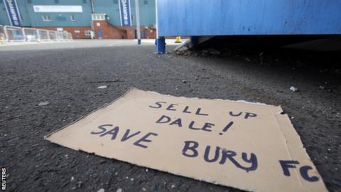 Bury given until Tuesday afternoon to complete sale and save club