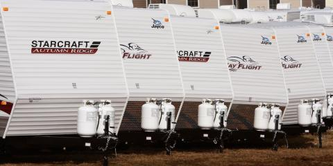 RV sales are plummeting, which could mean a recession is on its way a?? and President Trump's trade war isn't helping the struggling industry