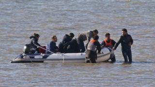Channel migrants: Sixty six people found in small boats