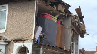 House collapses in Rugby in middle of night