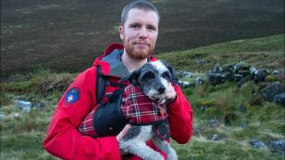 Lake District rescue of dog that refused to walk any further