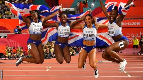 Asher-Smith wins third medal as GB take relay silver