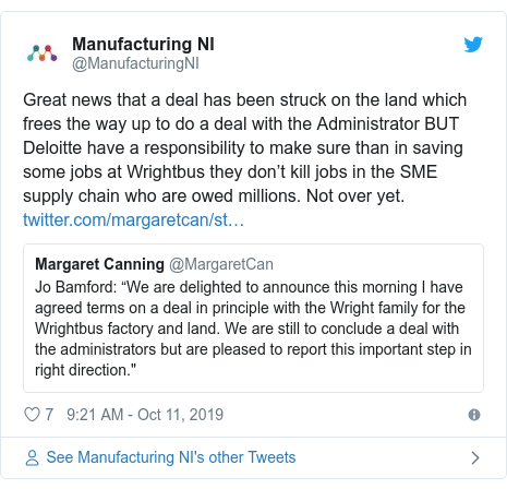 Wrightbus sale deal reached 'in principle'