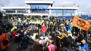 Extinction Rebellion: James Brown denies plane nuisance charge