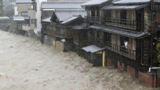 In pictures: Typhoon Hagibis brings strong winds, rain to Japan