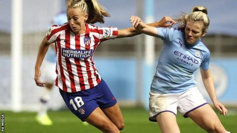 Man City held by Atletico in home leg of Women