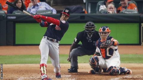 Nationals edge out Astros in World Series game one