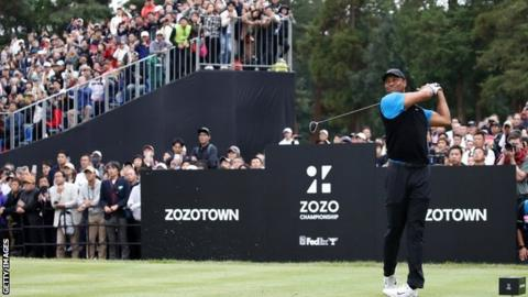 Zozo Championship: Tiger Woods extends lead in Japan