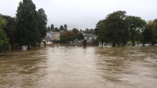 Roads and rail hit by flooding across Wales on Sunday