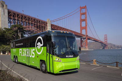 MCI kicks off electric with its D45 CRTe LE CHARGE and electric FlixBus demonstration in San Francisco, California