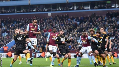 Aston Villa edge Wolves to reach last eight of EFL Cup
