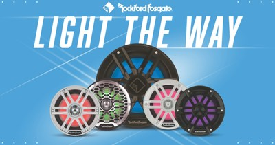 Rockford Fosgate® Introduces Next Generation of Marine Speakers And Subwoofers featuring Color Optixa?? RGB LED Lighting