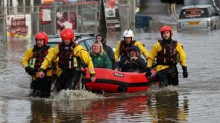 South Yorkshire flooding: Homes evacuated as rain causes travel chaos