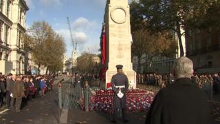 Armistice Day: Nation falls silent in remembrance for 100th time