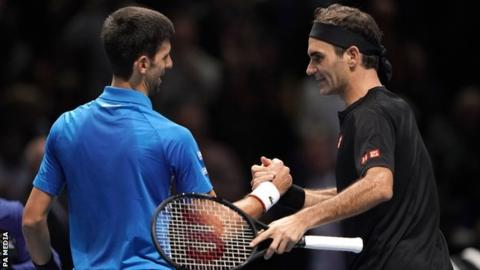 Superb Federer beats Djokovic to reach ATP Finals last four & eliminate Serb