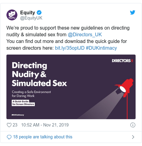 Nudity and sex scenes guidance launched for UK directors