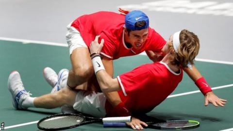 Djokovic's Serbia beaten by Russia in Davis Cup despite match points to win tie
