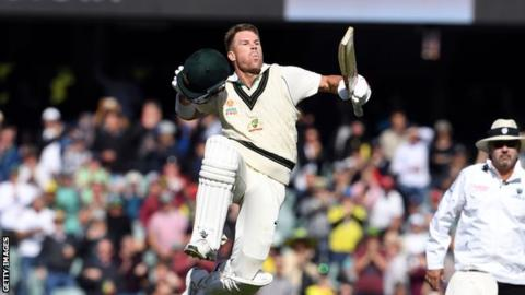 Australia declare with Warner on 335 as they dominate Pakistan in second Test