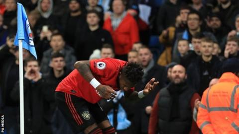 Manchester City 1-2 Manchester United: Alleged racist abuse and objects thrown at Fred