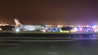 Liverpool airport delays after plane overshoots runway