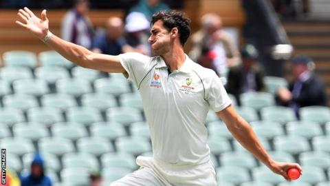 Australia v New Zealand: Mitchell Starc helps puts Australia in control in Perth