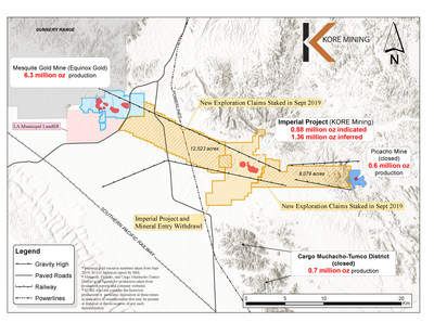 KORE Mining Releases Mineral Resource Estimate at Imperial Gold Project