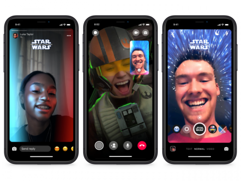 Facebook Messenger adds Star Wars-themed features and AR effects
