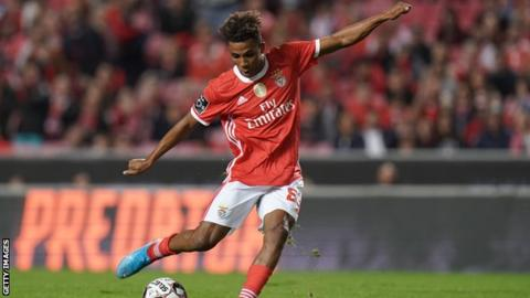 Tottenham: Benfica's Gedson Fernandes due for medical before loan move to Spurs
