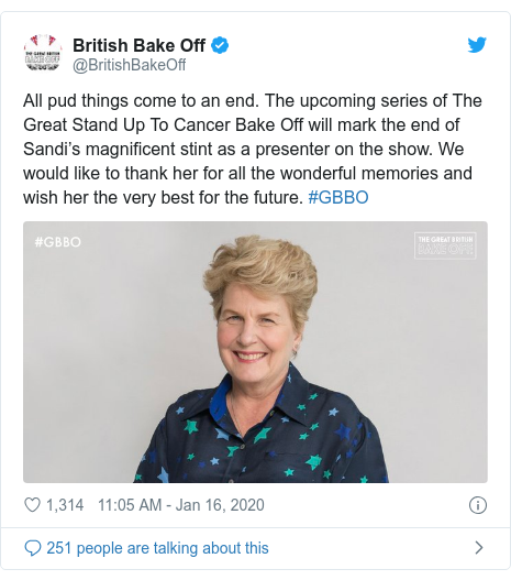 The Great British Bake Off: Sandi Toksvig to leave after three years