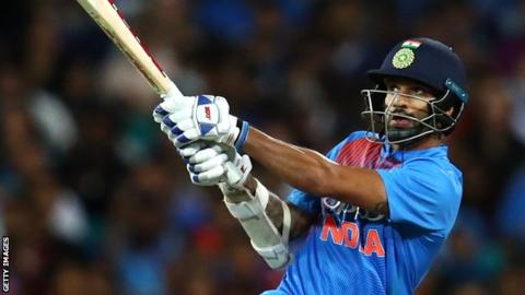 Dhawan hits 96 as India level series against Australia
