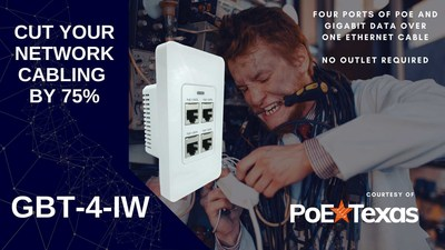PoE Texas Cuts Wiring Infrastructure by as much as 75% with Power Over Ethernet