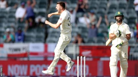 Wood gives England control of South Africa Test