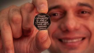 Brexit day 50p coin unveiled by Chancellor Sajid Javid