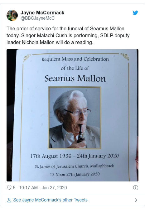 Seamus Mallon funeral: Tribute to 'peacemaker' and 'statesman'