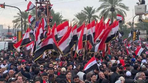 Iraqis security forces raid Baghdad protest site