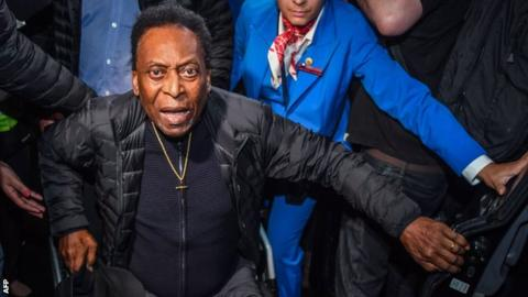Pele: Brazil legend says health problems 'normal for people my age'