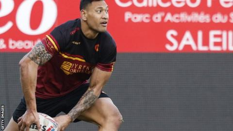 Israel Folau: Ex-Australia rugby union star considered retirement before Catalans Dragons move