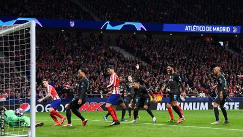 Holders Liverpool beaten by Atletico Madrid in first leg