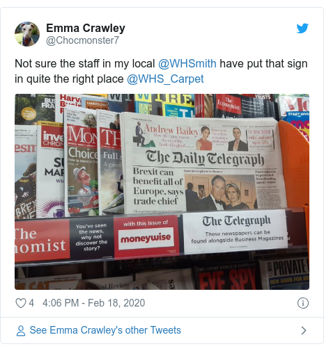 WH Smith in spat with Telegraph over pricing
