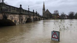 Flood levels in Shrewsbury could be