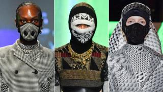 Facemasks on catwalk at Fashion Week