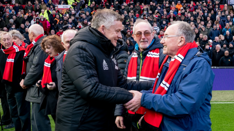 Man Utd choose older mascots to highlight loneliness