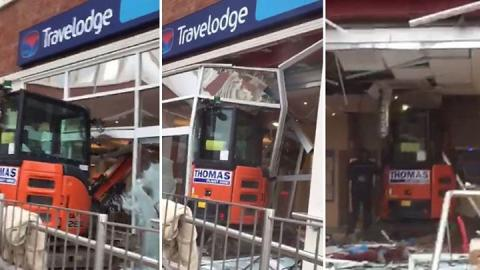 Liverpool Travelodge: Digger driver jailed for rampage