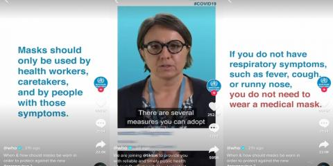 The World Health Organization joined TikTok to post 'reliable' advice about the coronavirus amid a stream of memes and misinformation