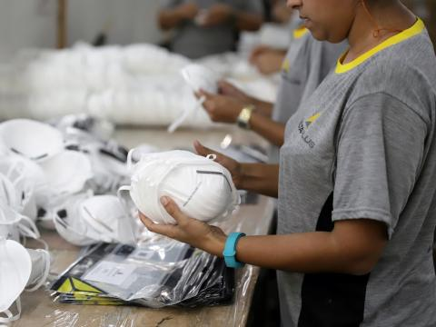 A massive stockpile of 39 million N95 masks is being sold to American hospitals a?? around 27 million more than the US government's emergency stockpile