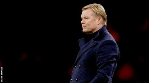 Netherlands boss Koeman in hospital with chest complaints