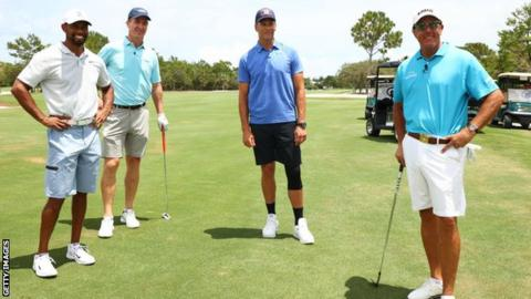 Tiger Woods & Peyton Manning beat Tom Brady & Phil Mickelson in $20m charity match