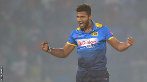 Sri Lanka bowler Madushanka banned after drugs arrest