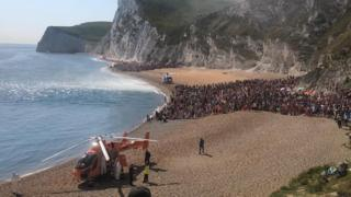 Durdle Door: Three seriously hurt